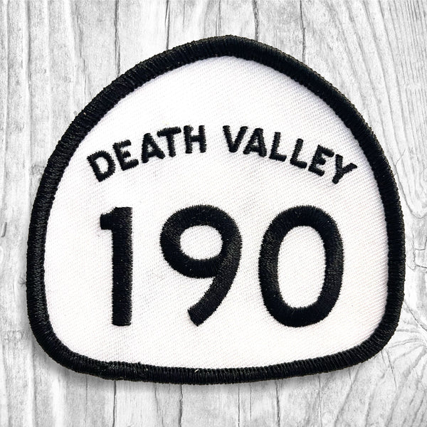 California State Highway 190 - Death Valley. Black & White Patch