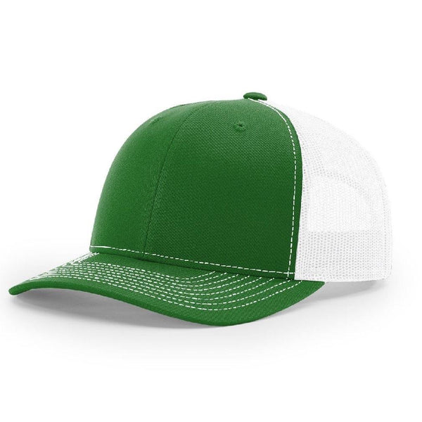 Richardson 112 Kelly Green/White - Trucker Snapback.