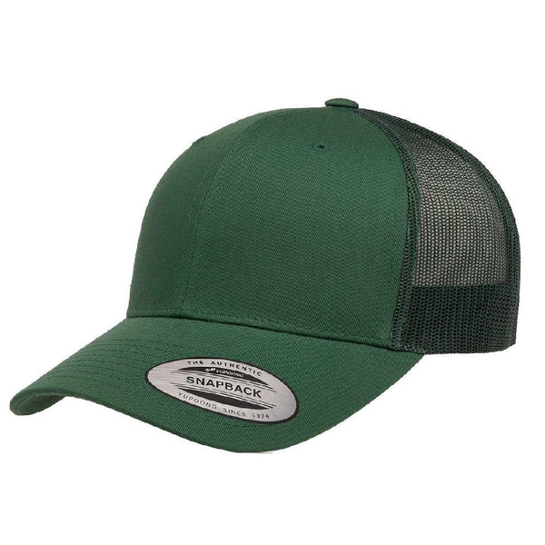 Yupoong 6606. Evergreen Retro Trucker Snapback. 6 Panel