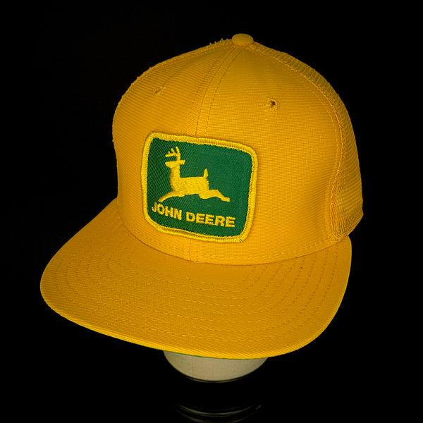 John Deere Vintage Patch + Yellow New Era Dupont Visor Trucker