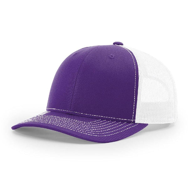 Richardson 112 Purple/White Trucker Snapback