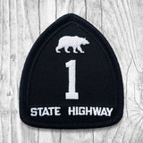 California State Highway 1 White & Black Patch