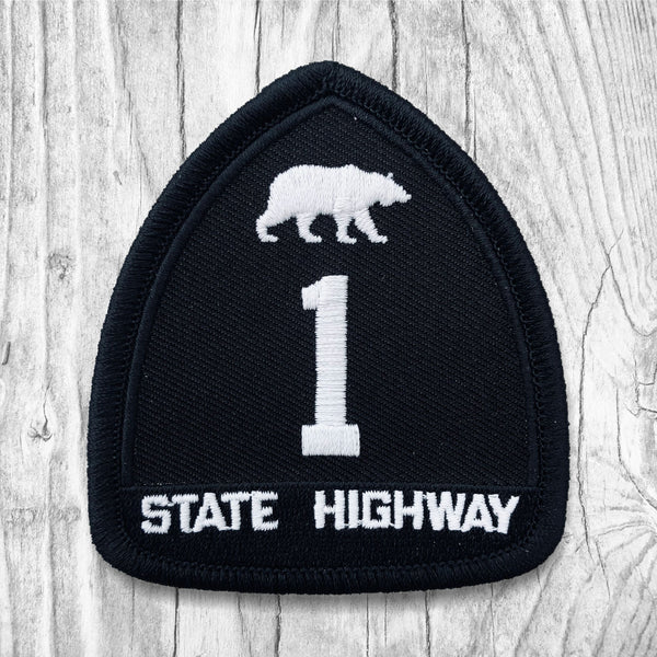 California State Highway 1 White & Black Patch :: The Lost Highway