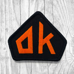 "Oklahoma ""OK"" Orange/Black Patch :: The Lost Highway"