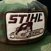 Stihl Chainsaw Vintage K-Products Camo Trucker Snapback