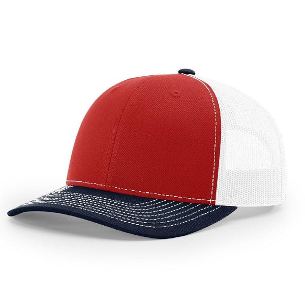 Richardson 112 Red/White/Navy Trucker Snapback