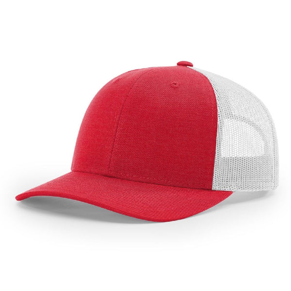 Richardson 115 Heather Red/Silver - Low Pro Trucker Snapback