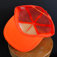 STIHL. Reinhart Ford Tractor. Matoon, Illinois. Vintage Safety Orange Snapback