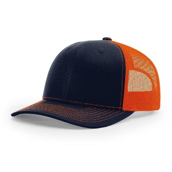 Richardson 112 Navy/Orange - Trucker Snapback