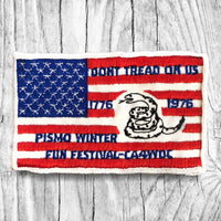 Don't Tread On Us 1776-1976. Pismo Winter Fun Festival - California Four Wheel Drive Convention. Vintage Patch