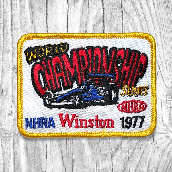 NHRA 1977 World Championship Series Vintage Patch
