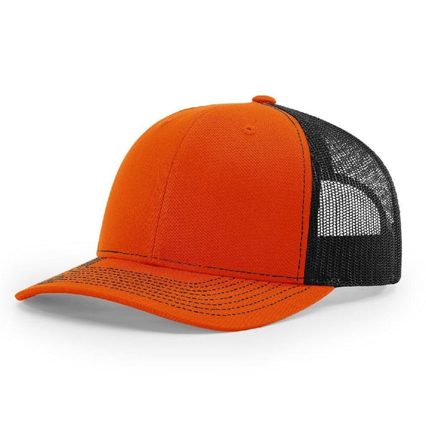 Richardson 112 Orange/Black - Trucker Snapback