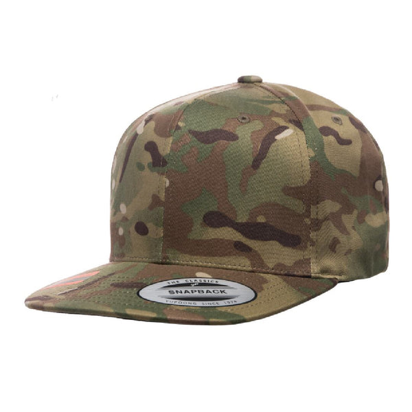 Yupoong 6089. Multicam Green Snapback. 6 Panel