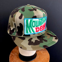 Mountain Dew Vintage Patch + Camo Snapback