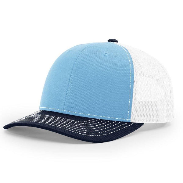 Richardson 112 Columbia Blue/White/Navy - Trucker Snapback