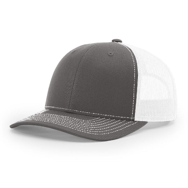 112 Charcoal/White Richardson Trucker Snapback