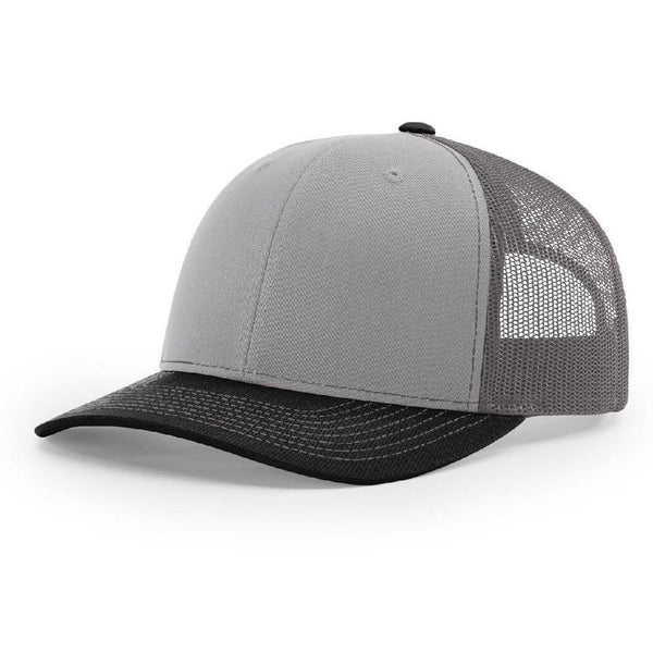 Richardson 112 Grey/Charcoal/Black - Trucker Snapback.
