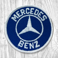 Mercedes-Benz White/Blue Vintage Patch
