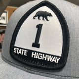California State Highway 1 Black & White Patch :: The Lost Highway