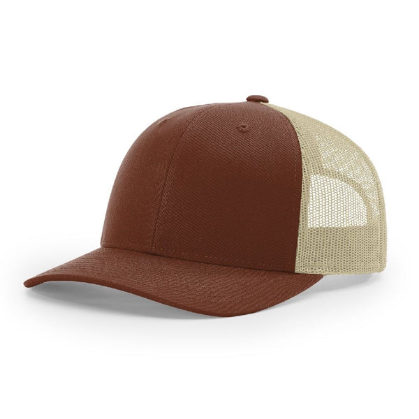 Richardson 115 Brown/Khaki Low Pro Trucker Snapback