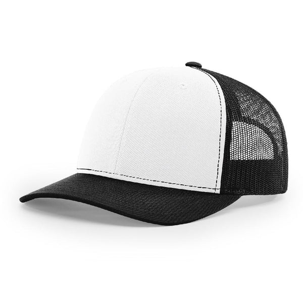 Richardson 112 White/Black - Trucker Snapback