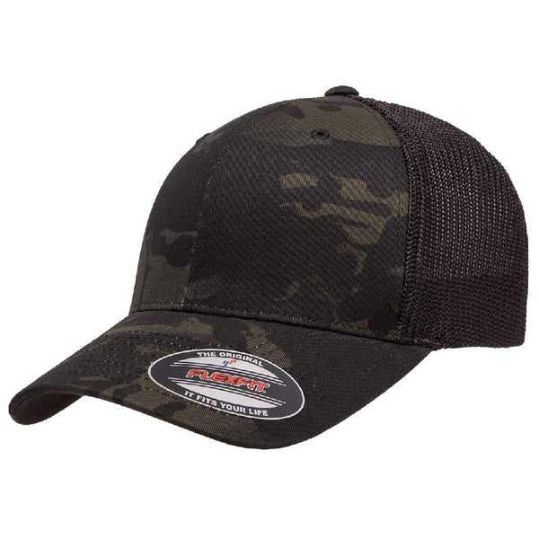 6606CA. Multicam Black Retro Trucker Snapback