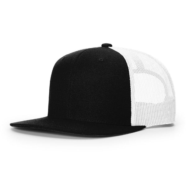 511 Black/White Richardson Classic Wool Trucker Snapback