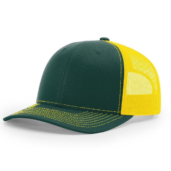 Richardson 112 Dark Green/Gold - Trucker Snapback