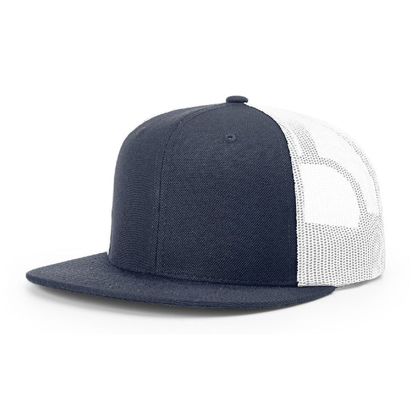511 Navy/White Richardson Classic Wool Trucker Snapback
