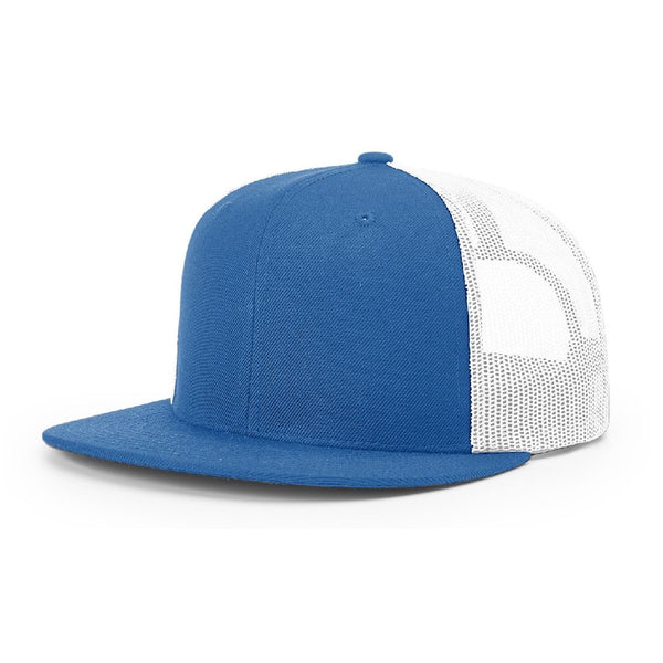 511 Royal/White Richardson Classic Wool Trucker Snapback