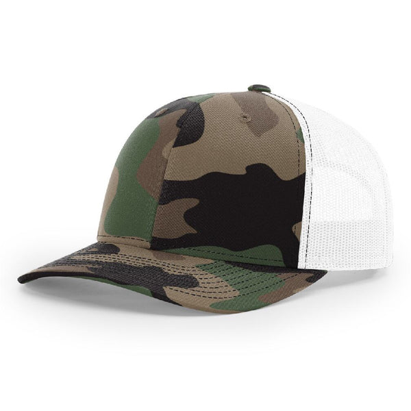 Richardson 112P Camo/White Trucker Snapback.