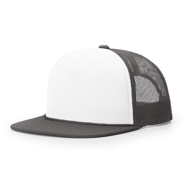 Richardson 113 White/Charcoal Foamie Trucker