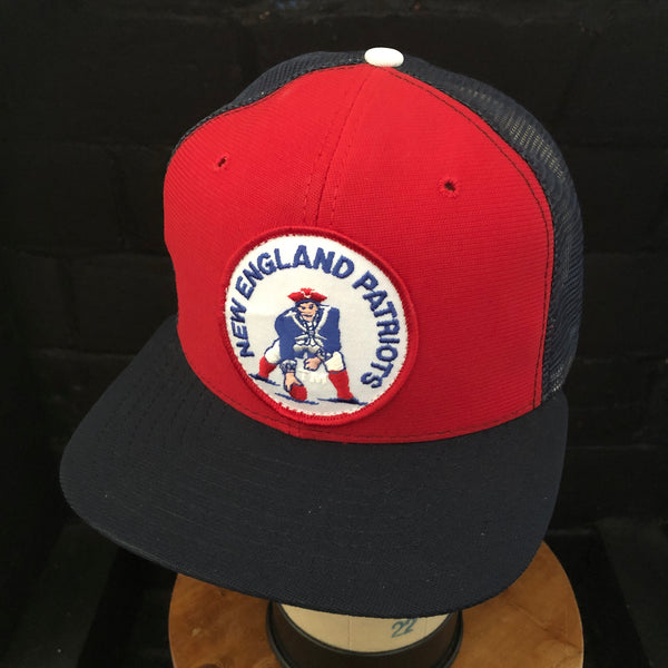 New England Patriots Vintage Patch + New Era Dupont Visor Snapback