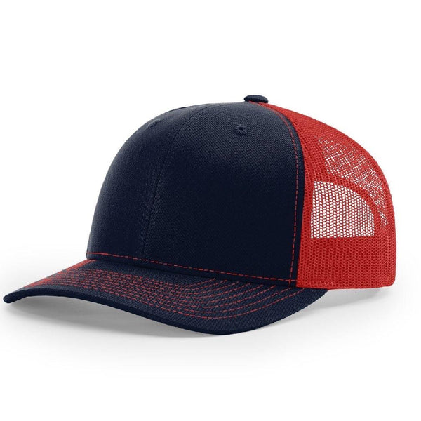Richardson 112 Navy/Red - Trucker Snapback