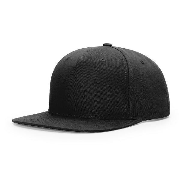 Richardson 255 Black Pinch Front - Structured Snapback