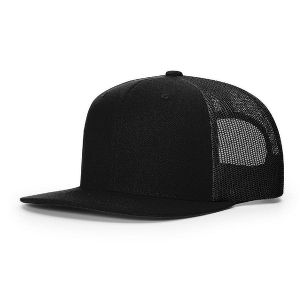 511 Black Richardson Classic Wool Trucker Snapback