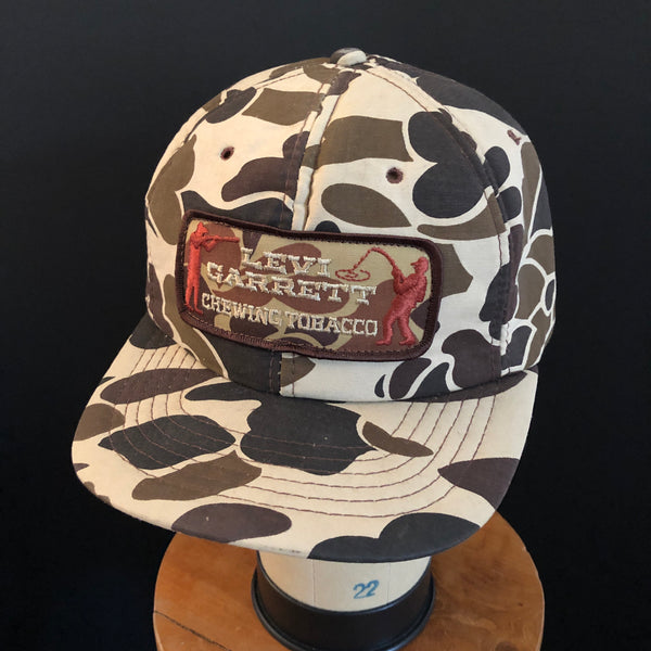 Levi Garrett Vintage Patch + Camo With Foam Interior NOS Snapback