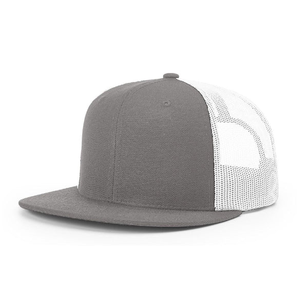 511 Charcoal/White Richardson Classic Wool Trucker Snapback