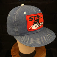 STIHL Vintage + K-Products Vintage Denim Snapback