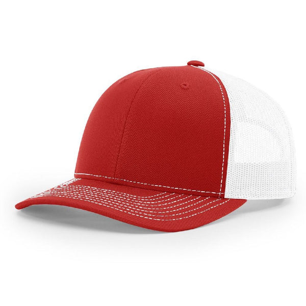 Richardson 112 Red/White Trucker Snapback