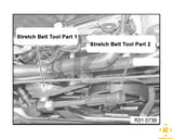 BMW X5 3.0 Stretch Belt Tool