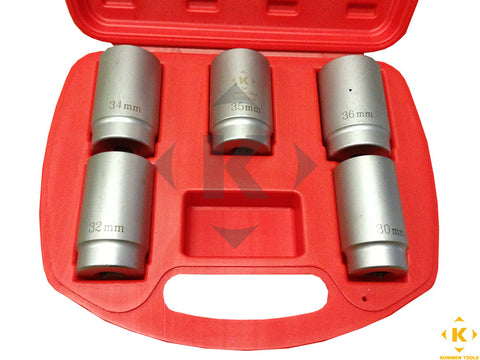 "Axle Socket Differentials Front and Back 5pcs 1/2"" Drive Set (30mm, 32mm, 34mm, 35mm, 36mm)"