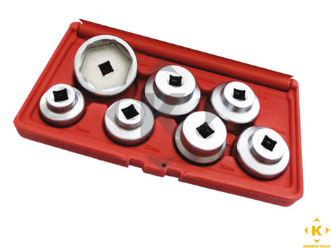 7PCS Oil Filter Socket Set (7 SIZE FOR USE ON MULTI-BRAND CARS)