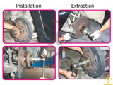 Front and Rear Wheel Bearing Extractor and Installer