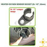 "Heated Oxygen Sensor Socket (1/2"" Drive, 22mm) Benz, Ford, BMW, Toyota, Nissan"