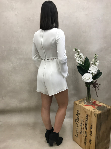 Guilty Pleasures Playsuit - White