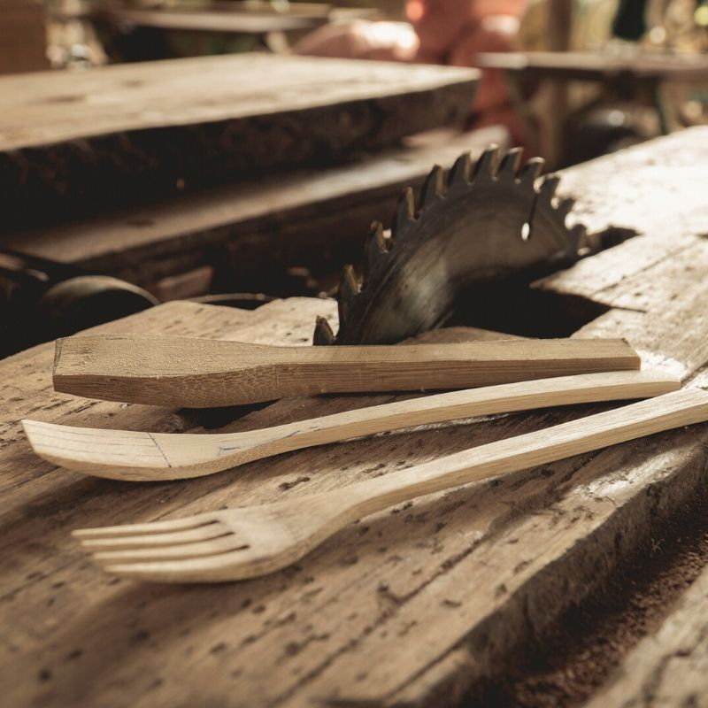 Wooden Cutlery Set UK