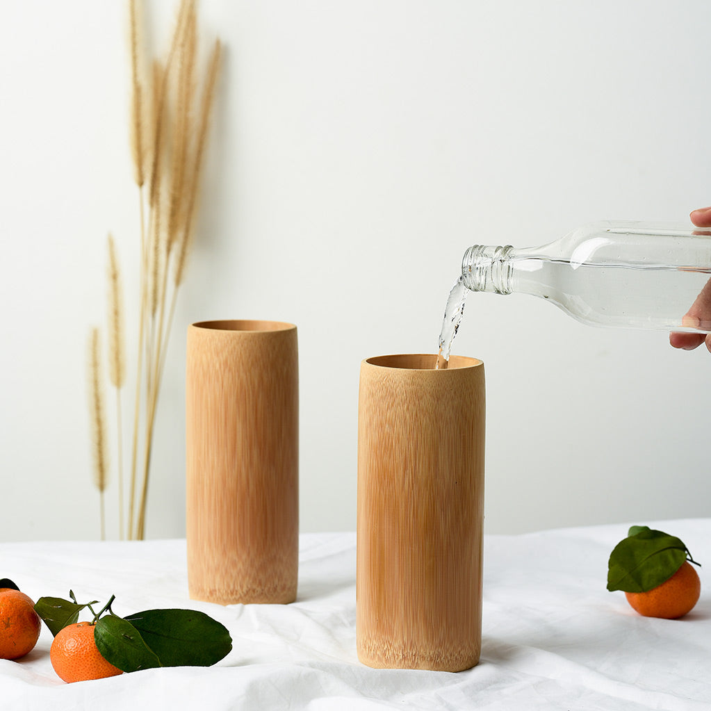 Bamboo Drinking Cups for Smoothies