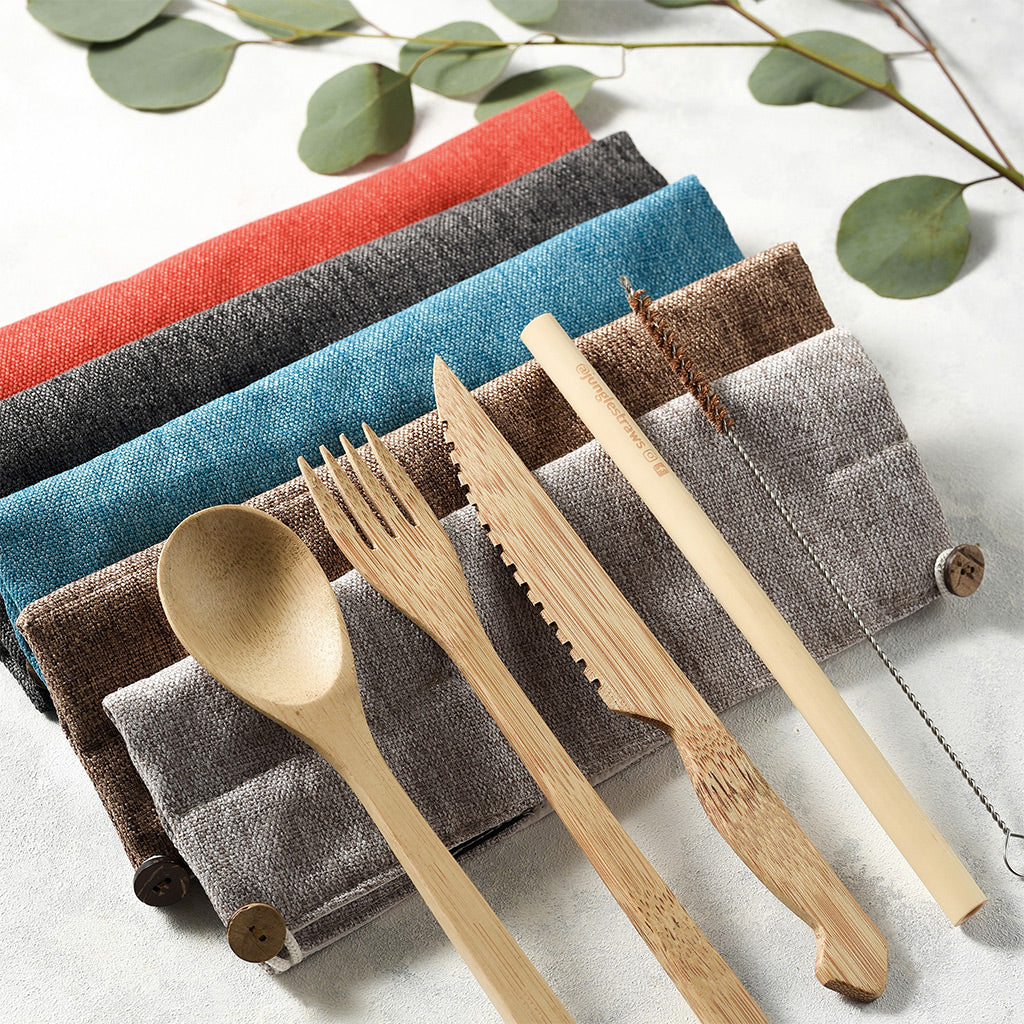 Bamboo Reusable Cutlery Sets