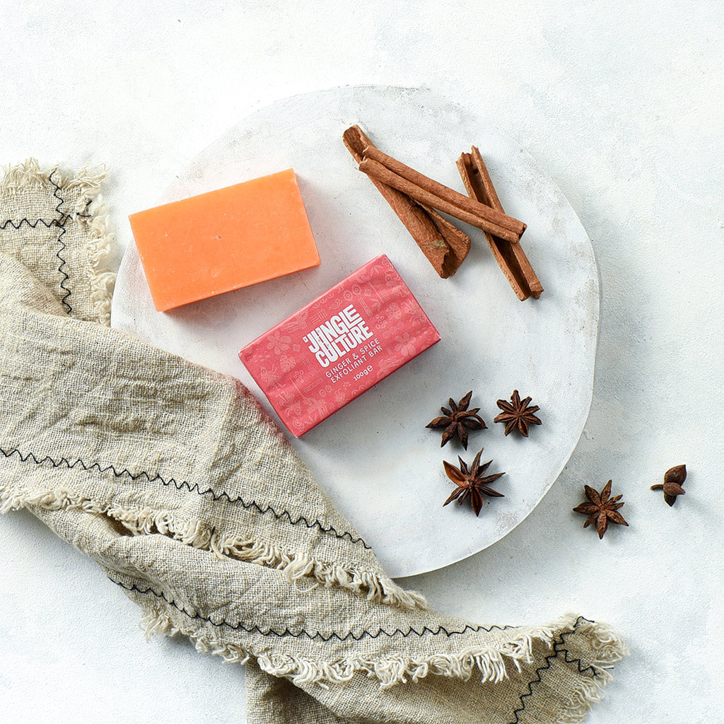 Ginger and spice natural exfoliant bar